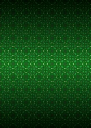 secession: cool green secession foliage pattern dark vector illustration