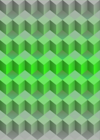 cubic dimensional green isometric vector illustration Stock Vector - 18427157