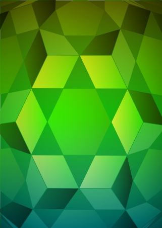 cubic dimensional green layout vector illustration Stock Vector - 18427161