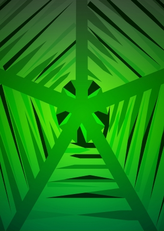 green geometrical web structure vector illustration Stock Vector - 18427128