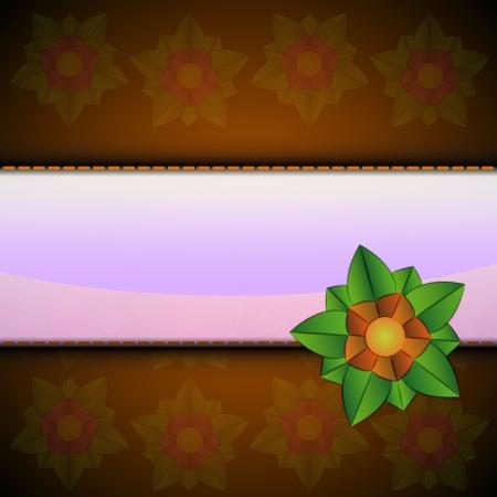 orange blossom: orange blossom on blank space vector card illustration