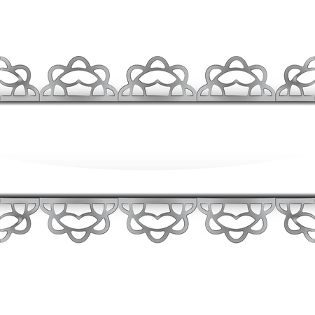 steel frame: isolated decorated baroque silver steel frame vector illustration