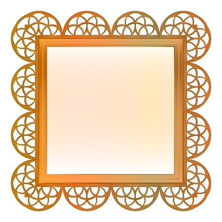 outer decorated vector baroque bronze square frame illustration