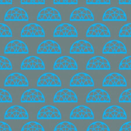 orthogonal: blue ornamental lace on grey vector pattern illustration