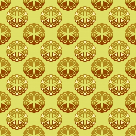 orthogonal: cool lace yellow brown blossom vector pattern illustration Illustration