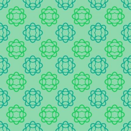 orthogonal: cool cyan floral blossom vector pattern illustration Illustration