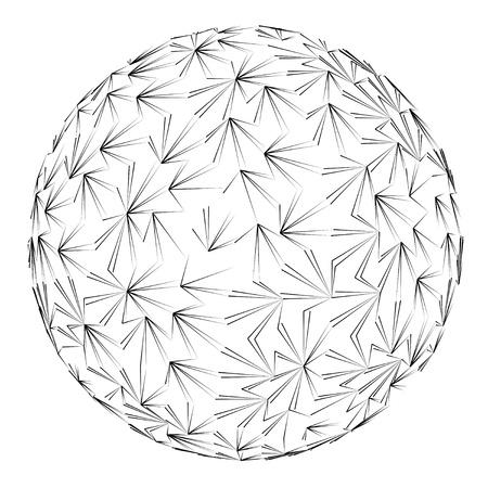 line art sphere construction drawing vector illustration Stock Vector - 18427055