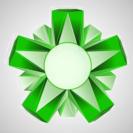 green star composition with circle frame vector illustration Stock Vector - 18427104