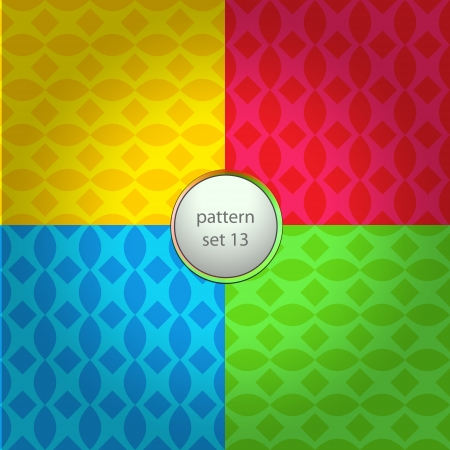 four colored round grid vector pattern set background Stock Vector - 18427164