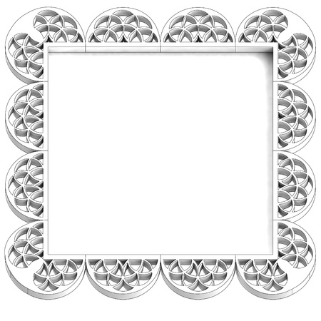 stucco: ancient dimensional square stucco frame illustration