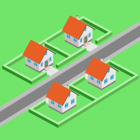 urban city development vector isometric view llustration Vector