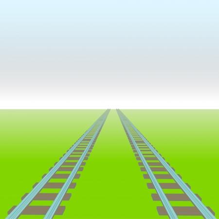zwei Schienen vector Perspektive Weg Konzeptabbildung Vektorgrafik