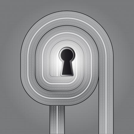 underpass: calm trafffic key solution vector illustration