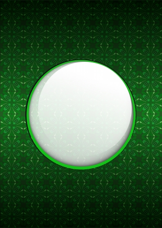 secession: cool green secession foliage with blank text circle illustration
