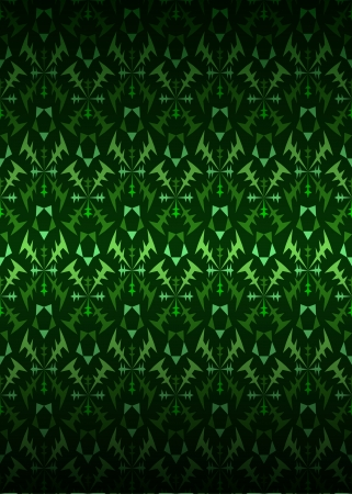 secession: green secession theme pattern dark background illustration Illustration