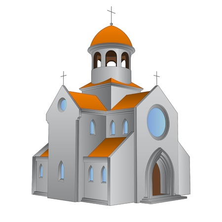 isolated ancient roman basilica for Catholics illustration Vector