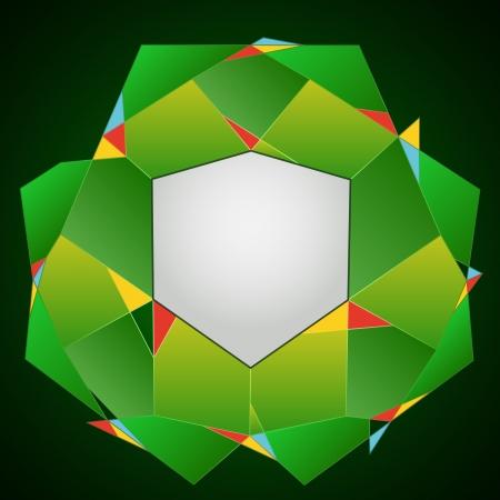 dark green line art layout polygon frame illustration Stock Vector - 18827905