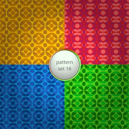 color mixed antigen pattern set background Stock Vector - 18828330