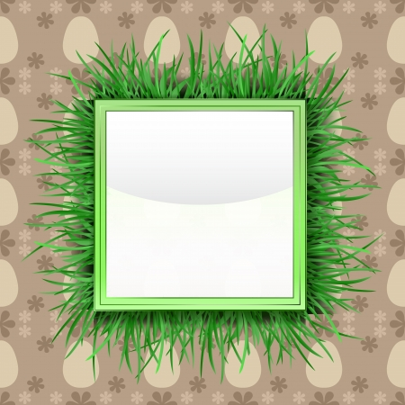 grassy: outer grassy square label with easter egg pattern illustration