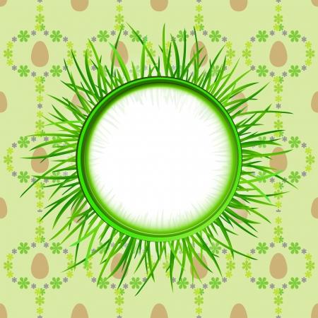 grassy: outer grassy circle label on easter egg pattern illustration