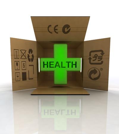 medicament: medicament box delivery for patients illustration