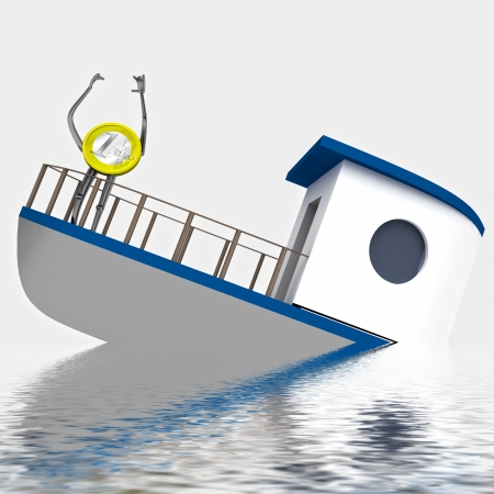 euro coin need help during the cruise rendering illustration illustration