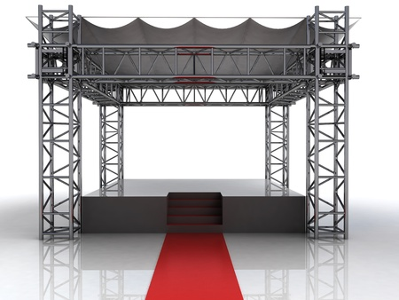 celebrities: festival open air stage with red carpet for celebrities illustration