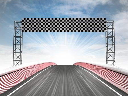formula racing finish line view with sky illustration illustration