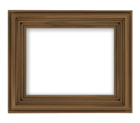 timbered: blank brown wooden decorative rectangular frame illustration