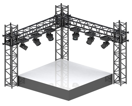 isolated festival stage for musical performance illustration Stock Photo