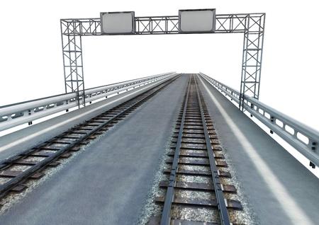 transform highway to ecological rail transport illustration illustration