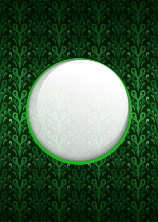 secession: secession foliage pattern with white text circle vector illustration