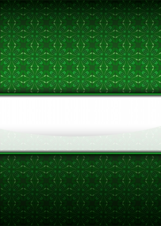 secession: green secession pattern with blank text stripe vector illustration