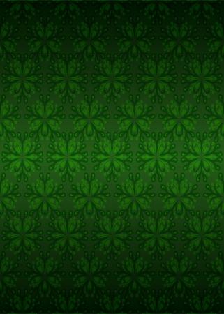 secession: dark green secession foliage pattern vector illustration Illustration