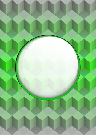 green cubic composition with blank text circle vector illustration Stock Vector - 19155576