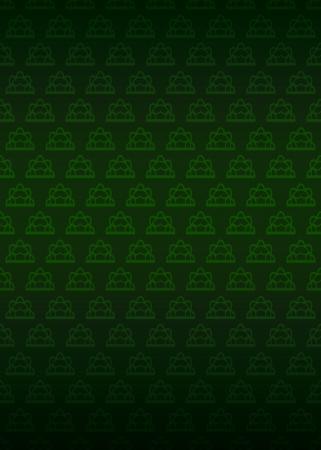 secession: green secession motive pattern dark background vector illustration