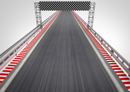 race circuit finish line top perspective illustration