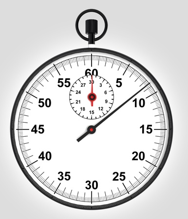front render view on running stopwatch illustration illustration