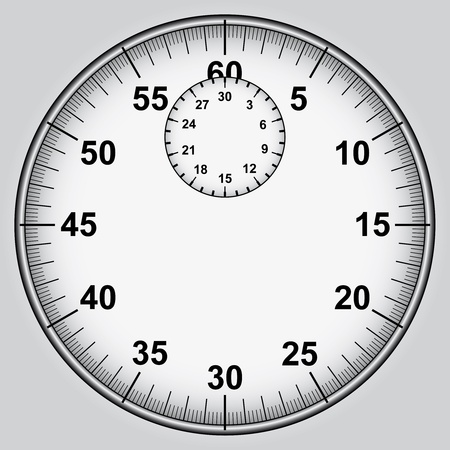 stopwatch dial with numbers vector illustration Vector