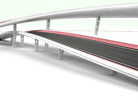 viaduct: two viaduct motorways on white background illustration