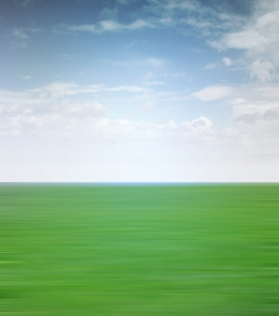 tranquil landscape view with blur grass and sky illustration