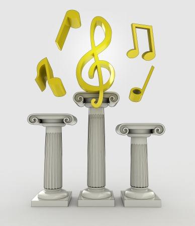 religion concept with god eye sign on column illustration illustration