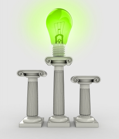 lightbulb green renewable energy symbol illustration illustration
