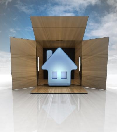 finished real estate deliveryto customer with blue sky illustration illustration
