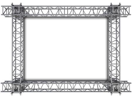 truss: iron rectangular construction frame for text illustration