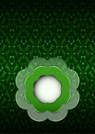 secession: green secession theme pattern with blank blossom illustration