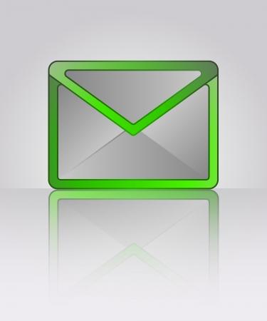 green positive vector red envelop information illustration Stock Vector - 19926192