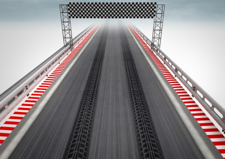 car security: tire drift on race circuit finish line illustration