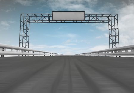 asphalt road ground view with construction and sky illustration illustration