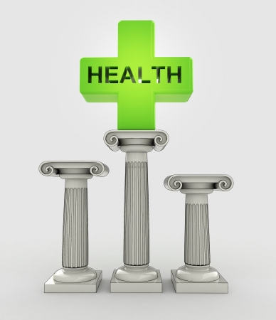best health care concept with ancient column illustration illustration
